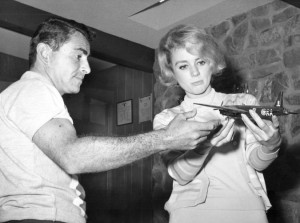 """Twilight Zone"" writer/creator Rod Serling with Inger Stevens in 1960 (courtesy Wikimedia Commons)"